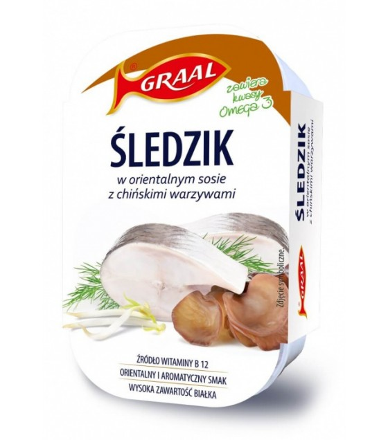 GRAAL Herring In Oriental Sauce Teriyaki With Chinese Vegetables - 110g (exp. 01.12.22)
