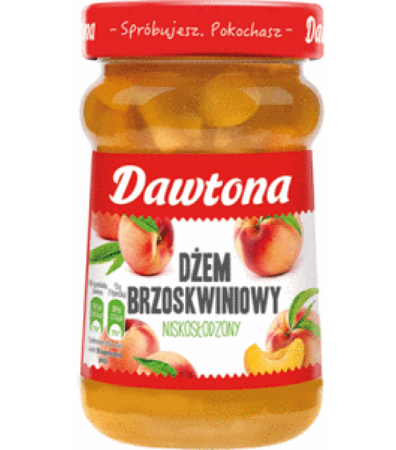 DAWTONA Peach Jam Low Sugar - 280g (exp. 20.02.20)