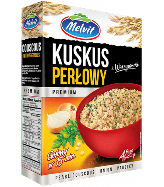 MELVIT Pearl Couscous with Onion and Parsley - 4x80g (exp. 09.02.22)