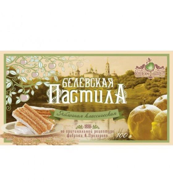 "Pastila ""Belevskaya"" apple classic - 100g (exp. 20.12.18)"