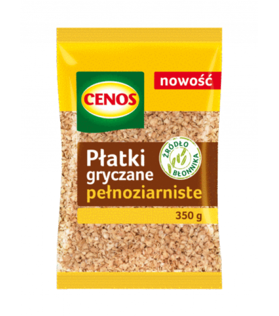 CENOS Whole Grain Buckwheat Flakes - 350g (exp. 03.07.20)