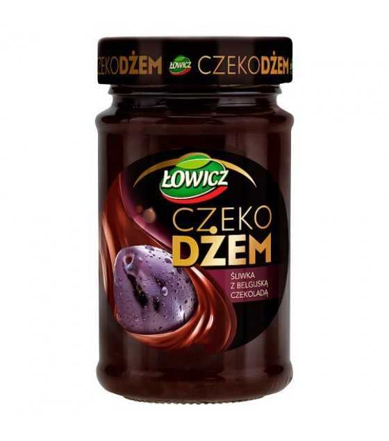 LOWICZ Plum Jam with Belgian Chocolate - 250g (exp. 01.04.20)