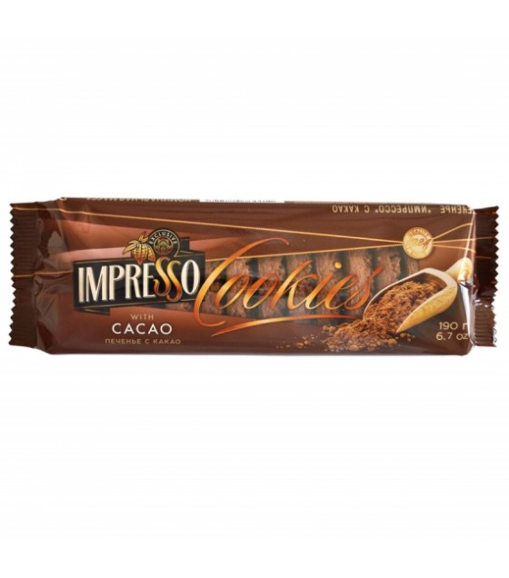 "SPARTAK Cookies ""Impresso"" with cocoa - 190g (exp. 01.08.21)"