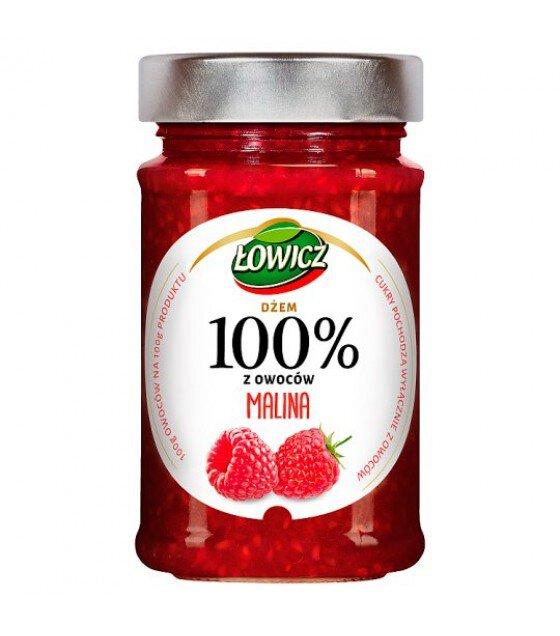LOWICZ Raspberry 100% Jam - 220g (exp. 01.11.20)