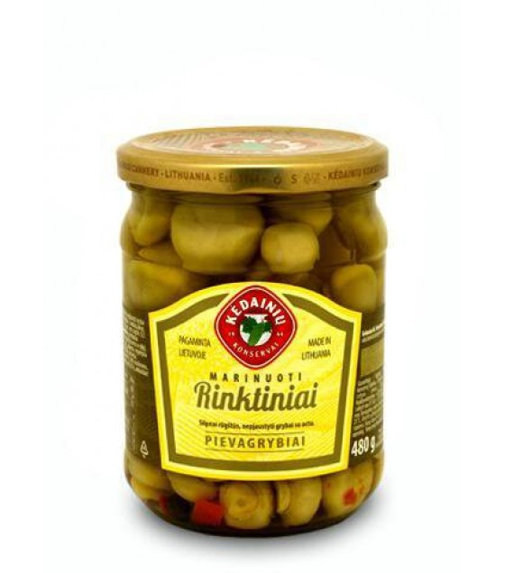 "KEDAINIU Pickled Field Mushrooms ""Rinktiniai"" - 480g (best before  22.04.23)"