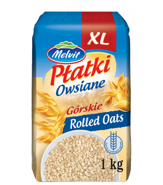 """MELVIT """"Gorskie"""" Oat Flakes - 1kg (exp. 06.01.21)"""
