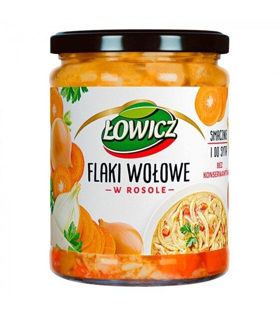 """LOWICZ Tripe in Bouillon """"Flaki Wolowe"""" - 500g (exp. 01.11.20)"""