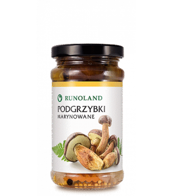 RUNOLAND Bay Bolete Pickled Wild Mushrooms - 220g/130g (exp. 10.01.21)