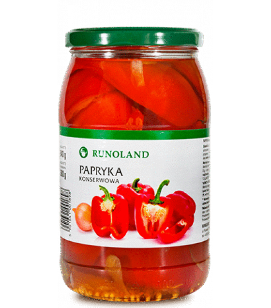 RUNOLAND Red Paprika Pickled - 900g/840g (exp. 10.01.20)