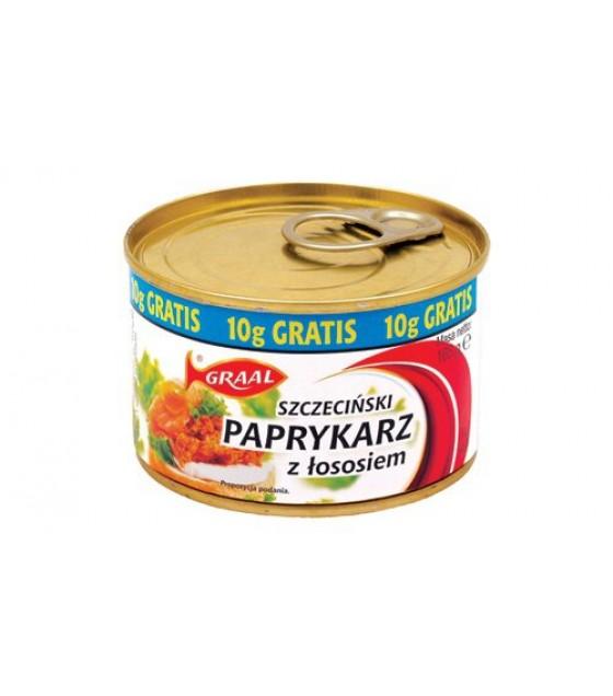 """GRAAL Fish Spread with Salmon """"Szczeciński paprykarz z lososiem"""" - 165g (exp. 01.12.21)"""