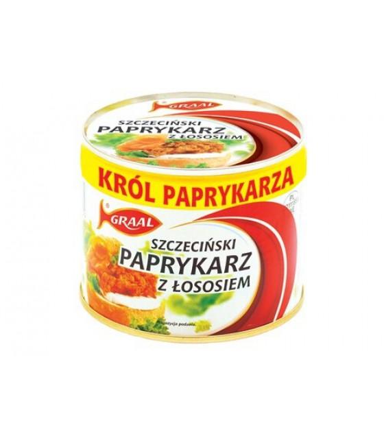 """GRAAL Fish Spread with Salmon """"Szczeciński paprykarz z lososiem"""" - 330g (exp. 01.12.21)"""