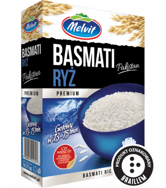 MELVIT Basmati Rice Pakistan (4x100g) - 400g (best before 06.04.22)