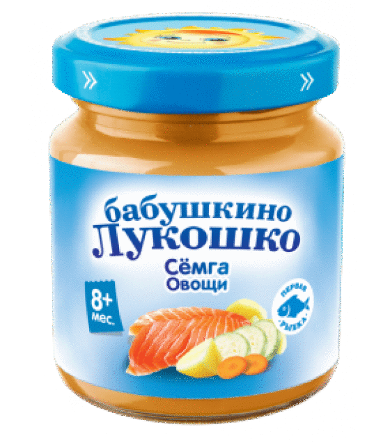 "Puree ""Babushkino Lukoshko"" Salmon with Vegetables (from 8 months) - 100g (exp. 27.12.19)"