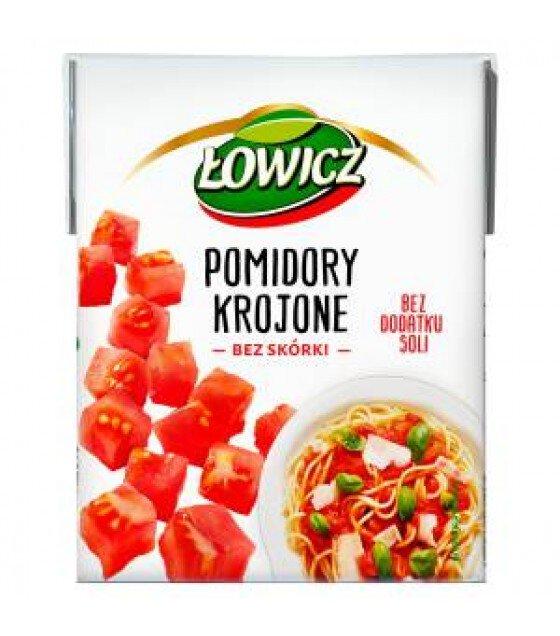 LOWICZ Chopped Peeled Tomatoes (Krojone) - 390g (exp. 01.03.21)