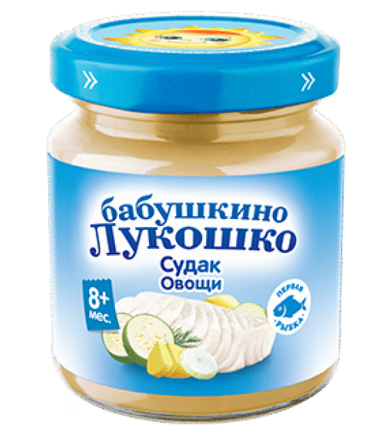"Puree ""Babushkino Lukoshko"" Zander with vegetables (from 8 months) - 100g (exp. 21.08.19)"