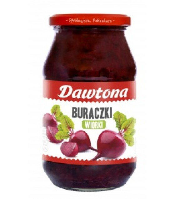 DAWTONA Shredded Beetroots (Buraczki Wiorki) - 510g (best before 10.11.20)