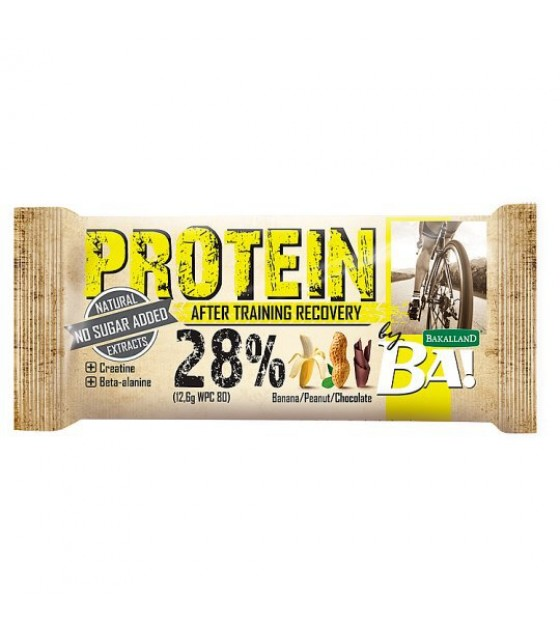 "BAKALLAND Protein Bar ""BA!"" After Training Recovery. Banana, Peanut , Chocolate - 45g (exp. 31.07.20)"