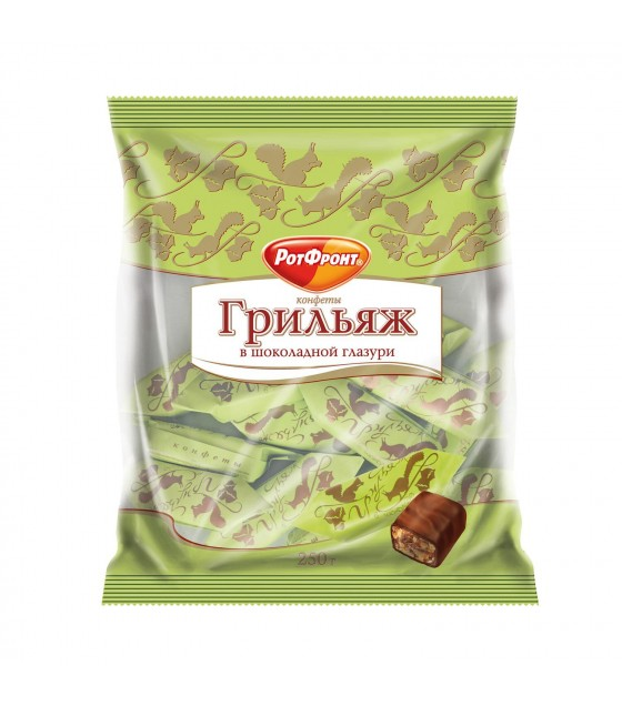 "Candies ""Grilyazh"" chocolate coated - 200g (exp. 12.02.20)"