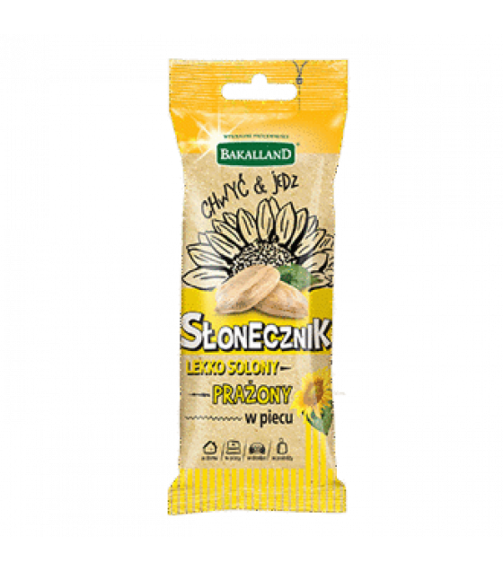 BAKALLAND Roasted Slightly Salted Sunflower Seeds - 70g (exp. 30.06.20)