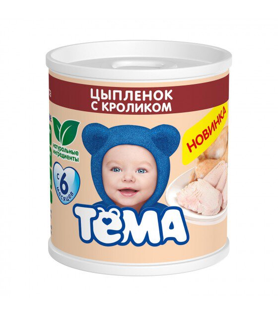 "Puree ""Tyoma"" Chicken with rabbit (from 6 months) - 100g (exp. 15.06.20)"