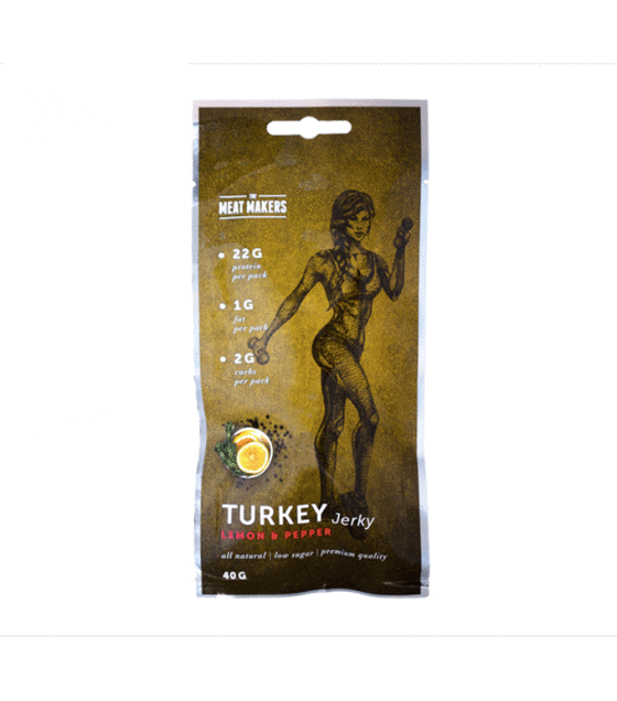 TMM Active Jerky - Turkey Lemon & Pepper - 0.040 kg. (exp. 18.01.20)