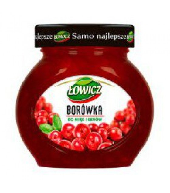 LOWICZ Low Sugar Red Bilberry Preserve - 230g (exp. 01.11.20)