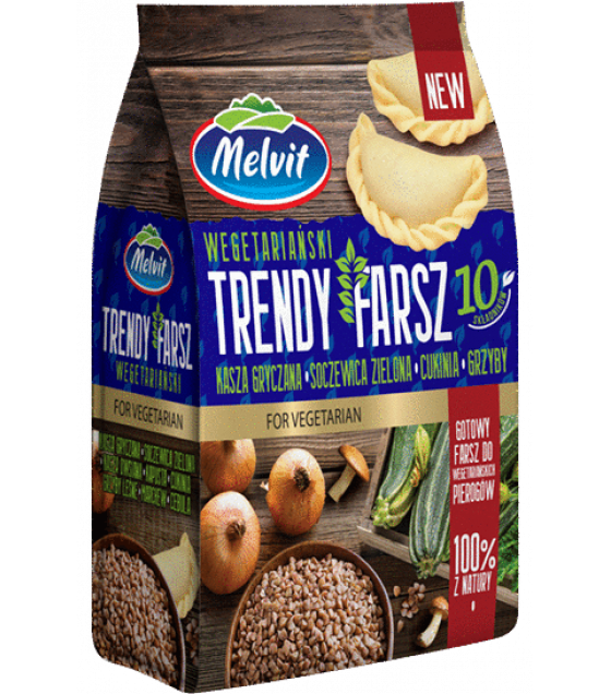 "MELVIT Trendy Lunch ""Farsz"" with Buckwheat, Green Lentils, Zucchini, Mushrooms - 300g (exp. 01.06.20)"