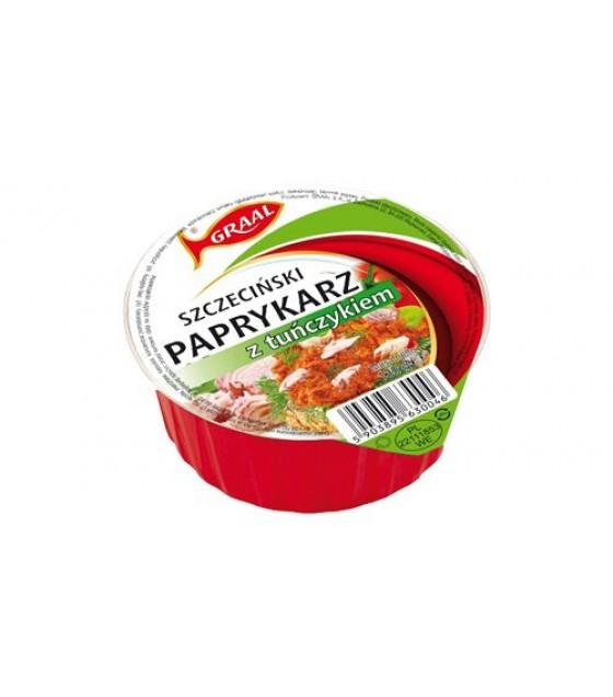 """GRAAL Fish Pate with Tuna """"Szczeciński paprykarz z tunczykiem""""- 130g (exp. 01.12.21)"""
