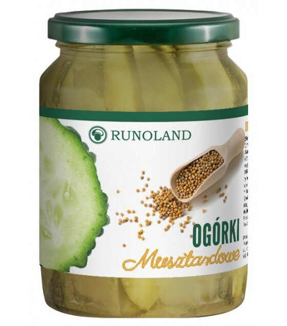 RUNOLAND Cucumbers in mustard - 700g/520g (exp. 10.01.20)