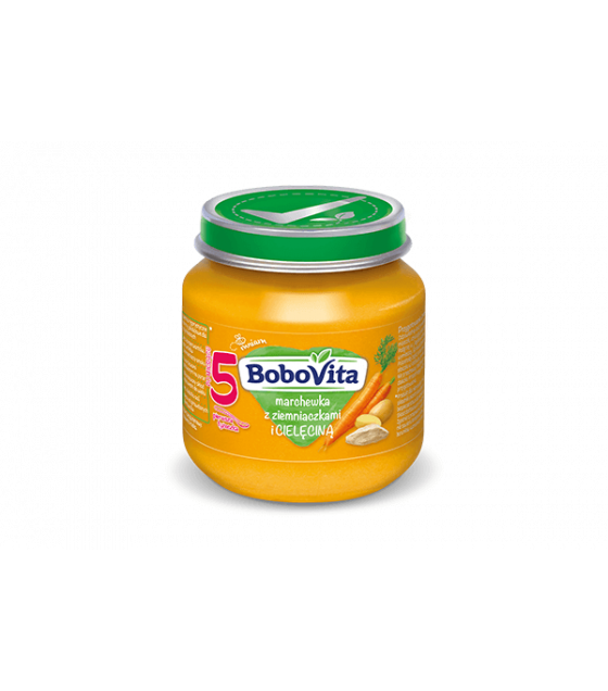 NUTRICIA BoboVita Baby Puree with Carrots, Potatoes and Veal (from 5 months) - 125g (best before 14.12.21)