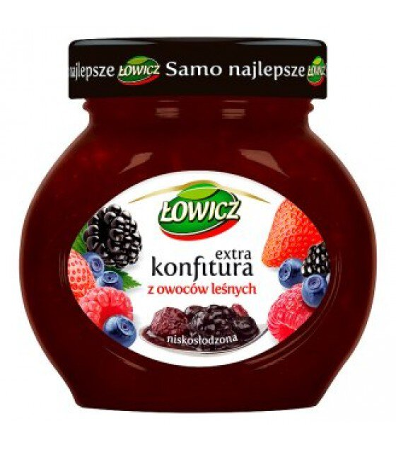 LOWICZ Low Sugar Forest Fruit Confiture - 240g (exp. 01.11.20)