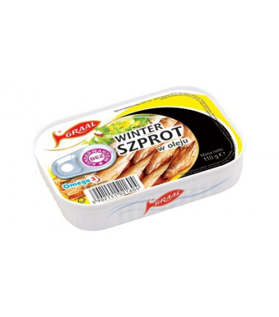 GRAAL Smoked Winter Sprats In Oil - 110g (exp. 01.12.22)