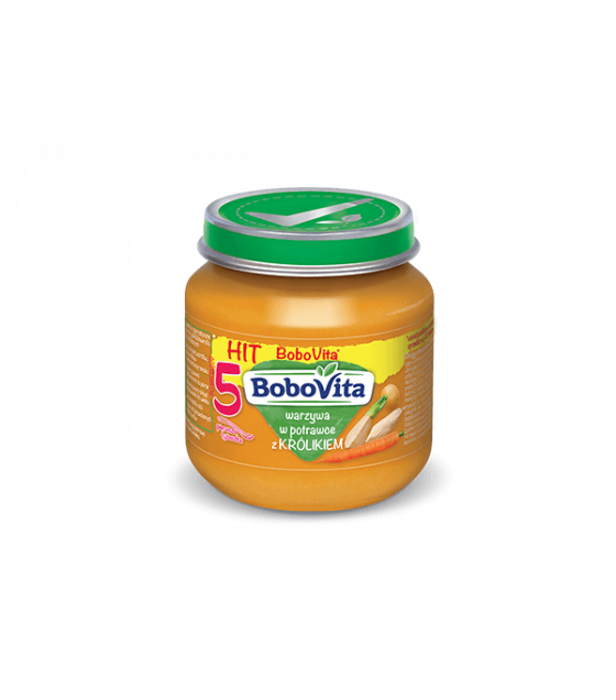 NUTRICIA BoboVita Baby Puree with Vegetables in a casserole with Rabbit (from 5 months) - 125g (best before 26.10.21)