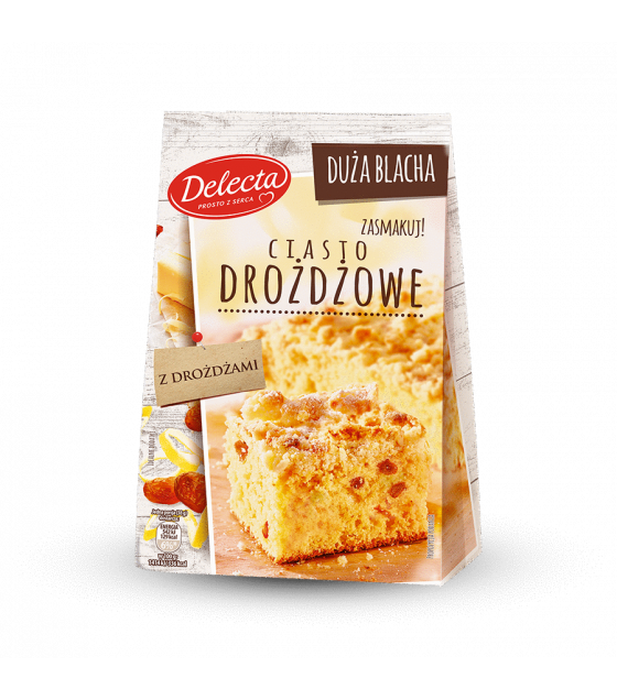 BAKALLAND Yeast Cake Baking Mix (Ciasto Drozdzowe) - 600g (best before 30.09.21)