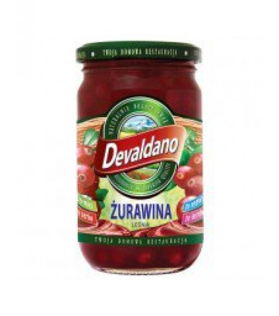 DEVALDANO Cranberry Preserve - 290g (exp. 01.12.21)